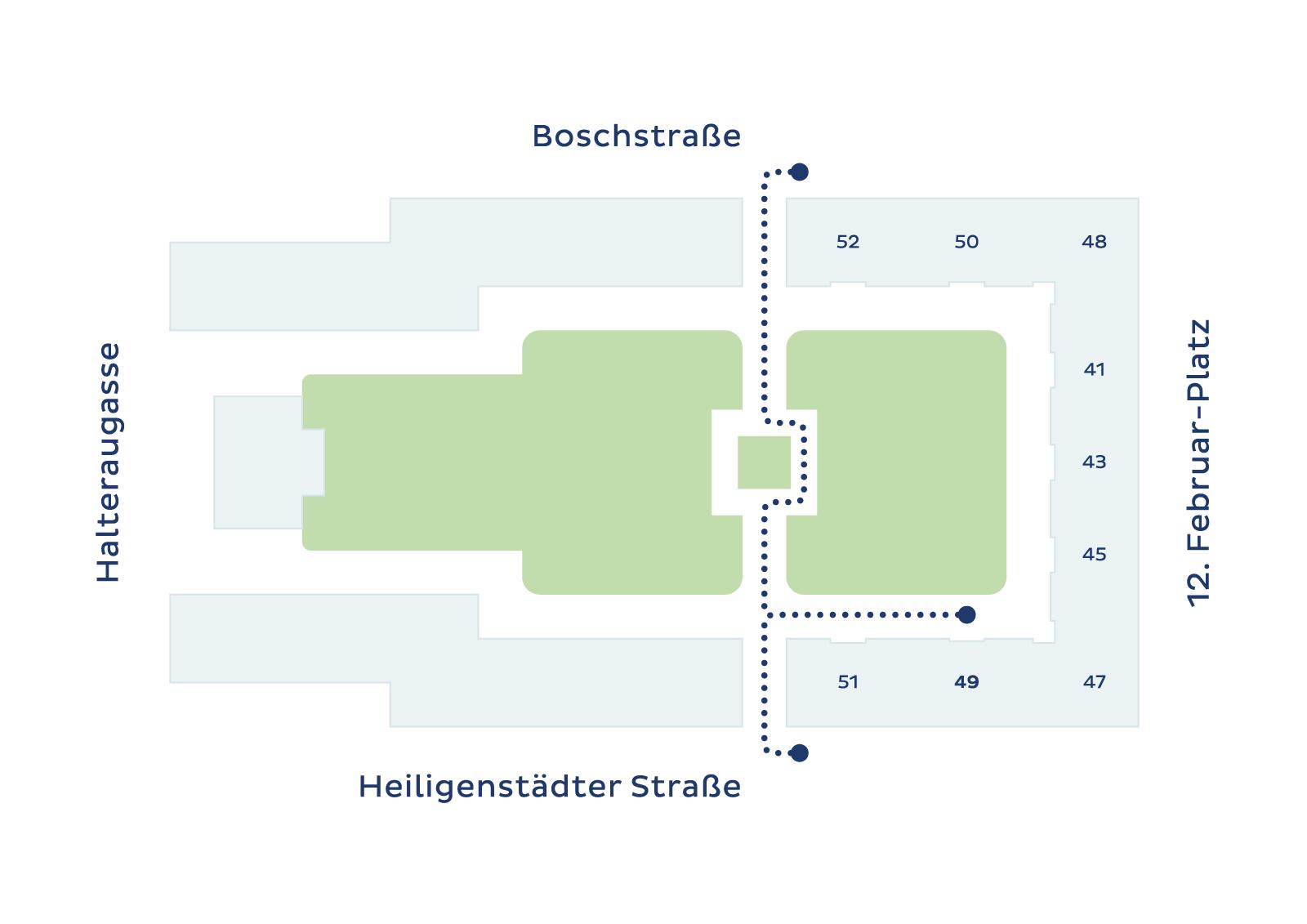 Zahnarztzentrum Illustration vom Lageplan