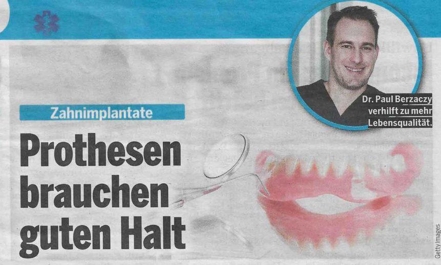 Zahnimplantate – Prothesen brauchen guten Halt (Österreich Sonderteil)